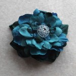 青いディルフェニウムのヘッドドレス
