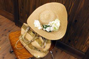 夏の帽子飾り