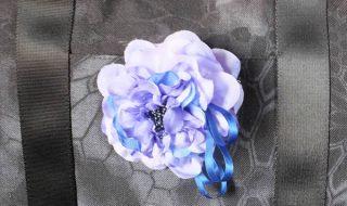 菫色のコサージュ(小)