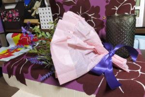 紫とピンクのブーケ