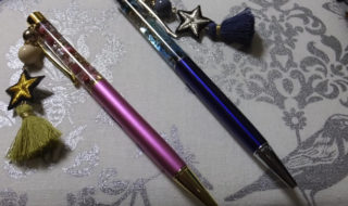 静電気放電用アクセ付ハーバリウムボールペン 2種類(2018/12/29)