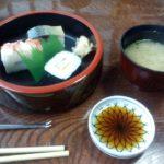 札幌かに本家「豊臣会席-寿司3種とかに汁(2019/1/12)」