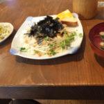 広島旅行-横川駅から徒歩?分の喫茶店で日替わりパスタランチ(2019/3/14)