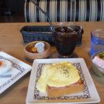 元町珈琲「アイスコーヒーとエッグベネディクトモーニングとデザート」ング」