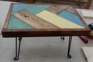 ミニヘリンボーンテーブル 完成品