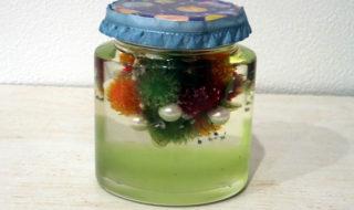 ~Floating flower ball~浮遊ビジューフラワーボールとカラージェル