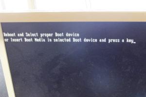 パソコンエラー ブートデバイス