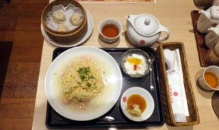 上海湯包小舘「蟹あんかけ炒飯セット」