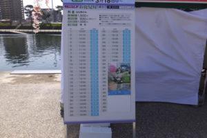 岡崎舟遊び 時刻表