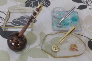 インアリウムレジン ペンスタンド3種類とコースターとハーバリウムボールペン