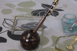 インアリウムレジン 珈琲豆のペンスタンドとと珈琲豆のハーバリウムボールペン