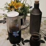 環境ダイヤの焼きボトルとアイスコーヒー