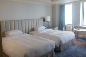 名古屋マリオットアソシアホテル「デラックスツイン(38㎡)ベッド×2台」