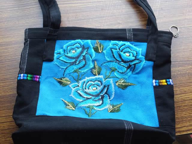 青バラのバッグ