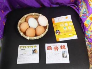 卵3種(鶏・鳥骨鶏・アロウカナ)