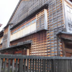 金沢 東茶屋街へ 町屋の外観1(2018/12/8)