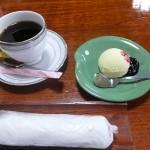 札幌かに本家岡崎店「グアテマラコーヒーとバニラアイス」
