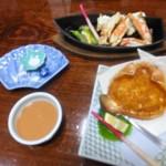 札幌かに本家「味くらべかに会席 紅梅と蟹の鉄船焼き(2016/2/28)」