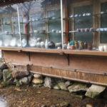 兼六園 茶店の外側ディスプレイ(2018/12/8)
