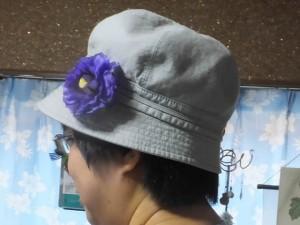 オートクチュールフルール教室「余った花は帽子に付けました」