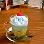 cafe mitte「ミントプンシュのソーダフロート」