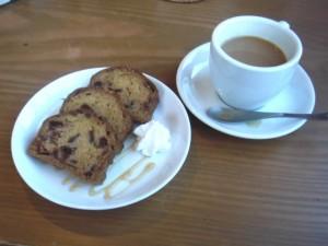 cafe mitte「柿のパウンドケーキ(131113)」