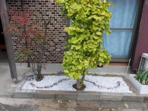 家の庭「玄関口の花壇(2014/11/11)完成」