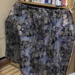 自分の部屋の本棚「垂れ布をチェンジ」