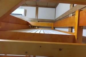 奥の部屋リフォーム後「木製ロフトベッド・上部分(2016/8/24)」