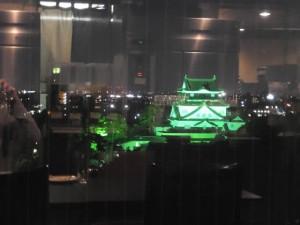 スカイレストラン・パリ「夜景-岡崎城(2015/5/15)」