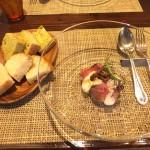 Radice「ラディーチェランチ-前菜ローストビーフとパン3人前(2015/6/6)」