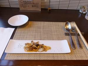 Radiceランチコース「アミューズ・いろいろ木の子のパイ包み焼き(2015/10/8)」