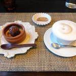 Radice「ランチ・オレンジカタラーナ、チョコアイス乗せとカフェラテ(2016/1/16)」