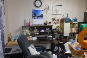部屋の模様替え-後「部屋の様子・NEW作業机側(2016/8/1)」