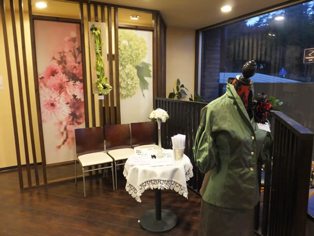 華乃庵「華の作家水谷鏡子と華仲間7人展(2014/11/1~14)」