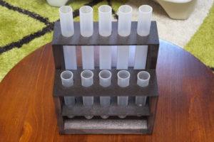 木製ワイヤースタンド(試験官はプラスチック)