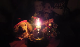 2018年のクリスマス「わんこと妖精とハーバリウムランプ」